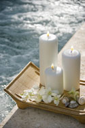 Candles By the Pool